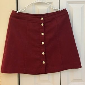 H&M Burgundy Aline Skirt